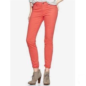 Gap Bright Coral Legging Jeans